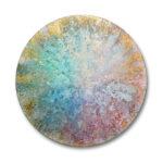 Bang 18, 2020, Oxidation on canvas, Diameter 80 cm